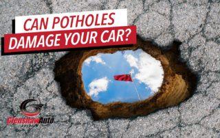 Picture of a big pothole.