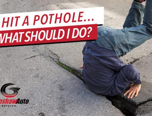 I Hit a Pothole – What Should I Do?