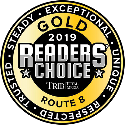 2019 Triblive Readers Choice Route 8 Gold Award