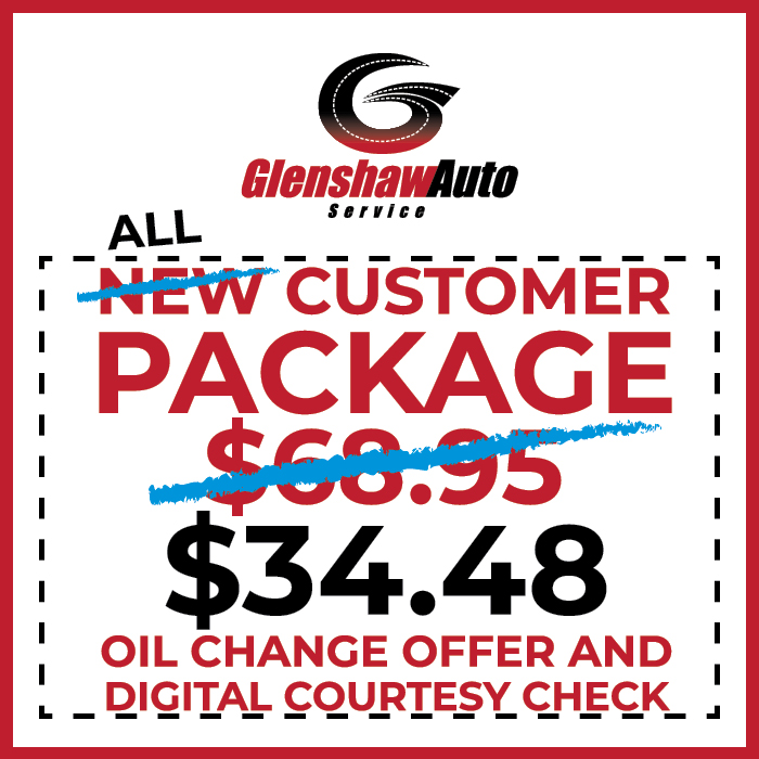Graphic showing the Glenshaw Auto Service All Customer Package