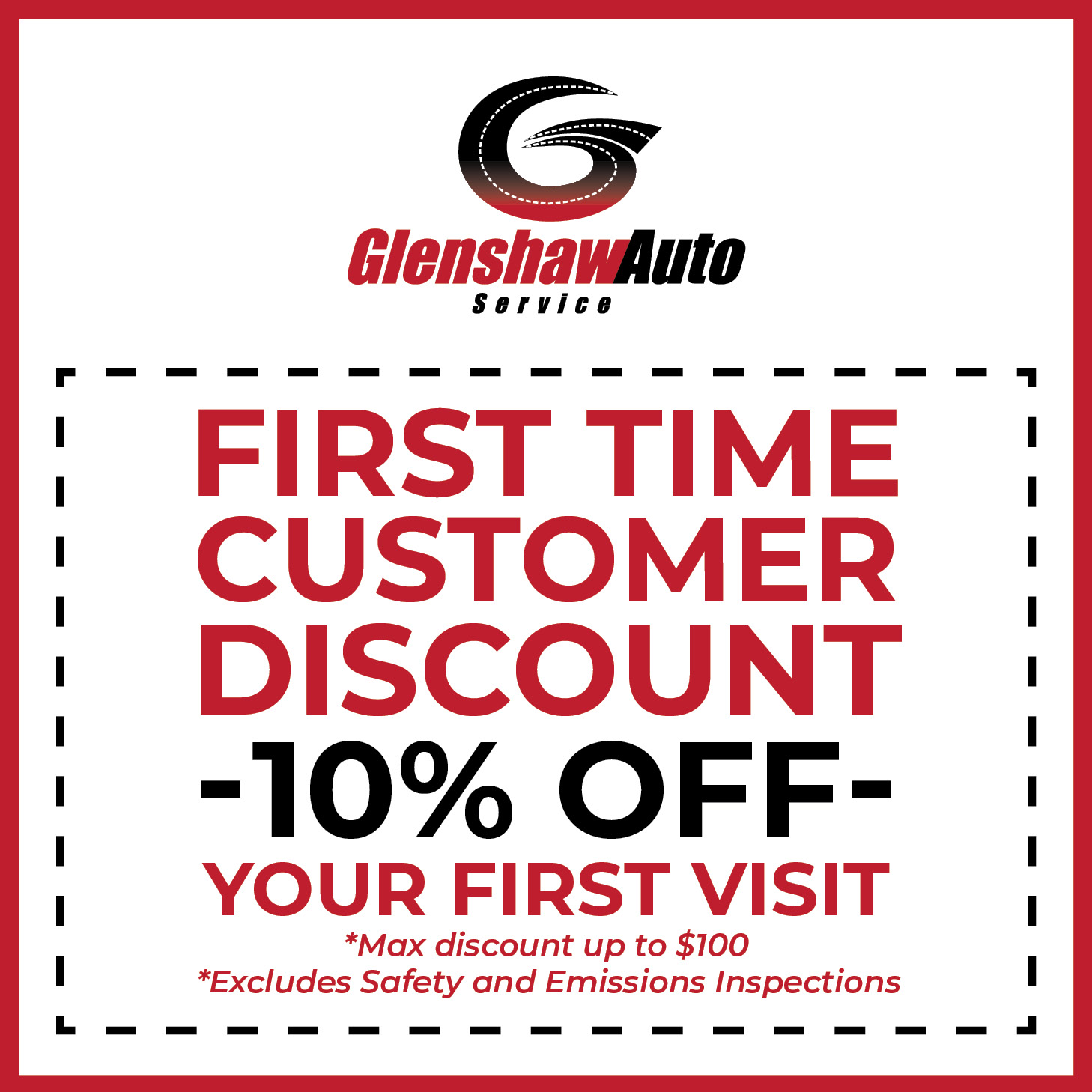 Graphic for the First Time Customer Discount