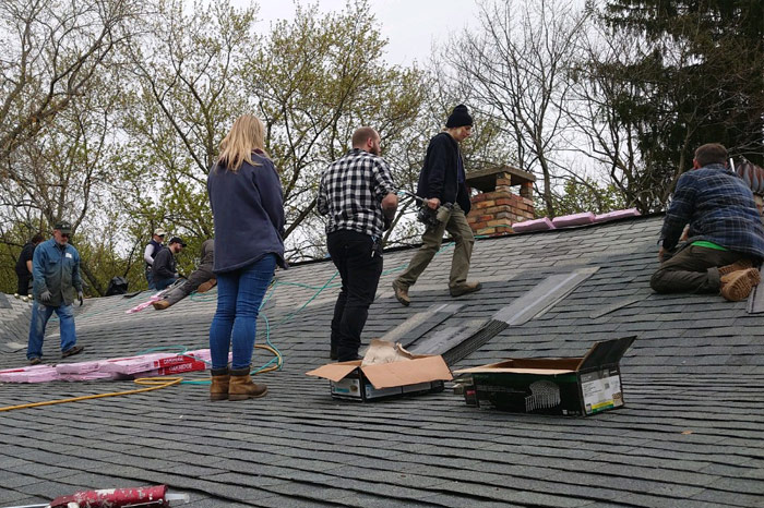 Fixing a roof with Hosanna Industries