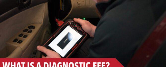 Technician looking at diagnostic equipment