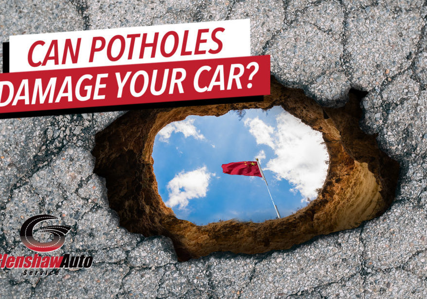 Picture of a big pothole.